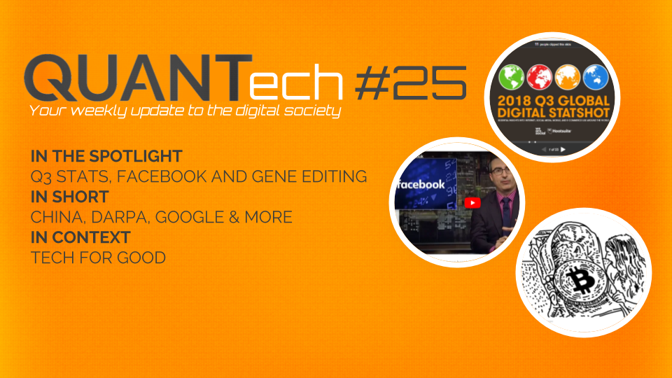 QUANTech #25: Q3 stats, Facebook and gene editing