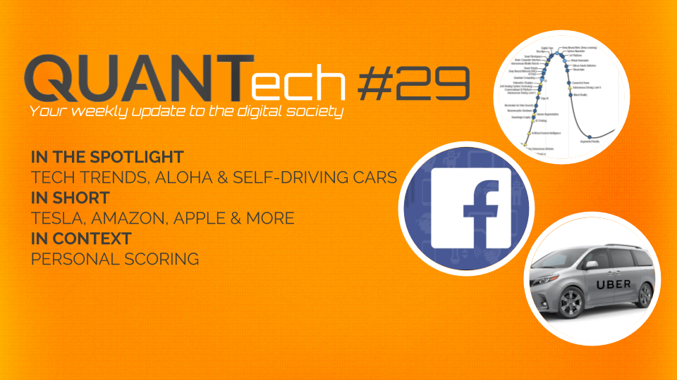QUANTech #29: Tech trends, Aloha and self-driving cars